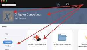 Jamf Self Service customization options